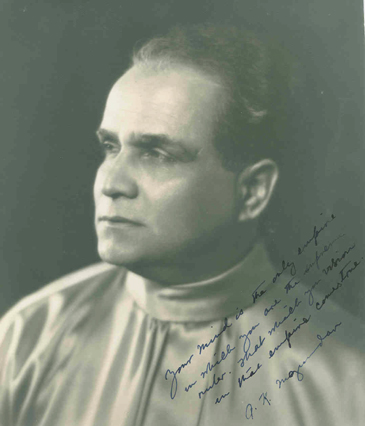 A.K. Mozumdar in 1945